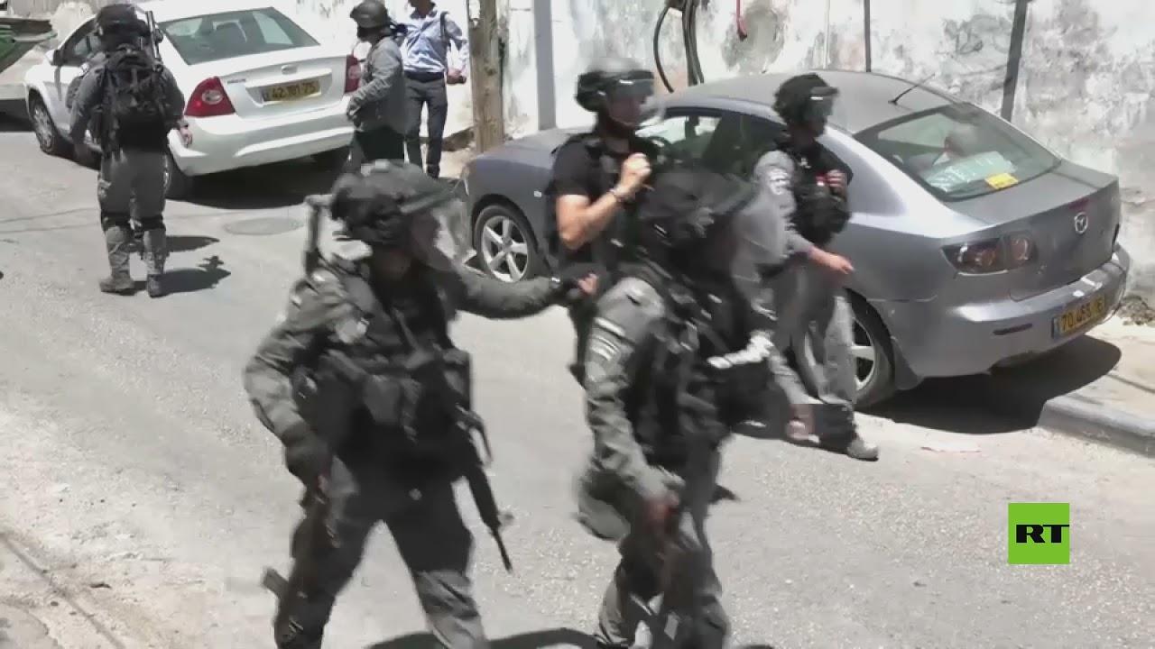 الشرطة الإسرائيلية تستخدم الغاز المسيل للدموع في تفريق المتظاهرين في حي سلوان بالقدس