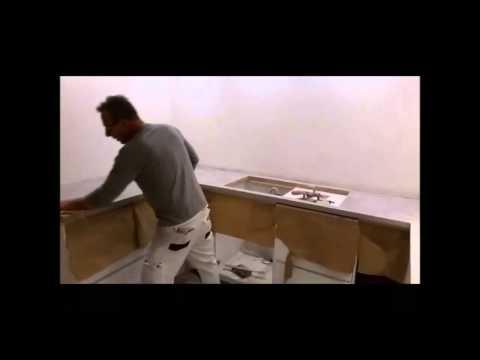 Beton Cire aanrechtblad-beton cire keukenblad door Betonstucadoor ...