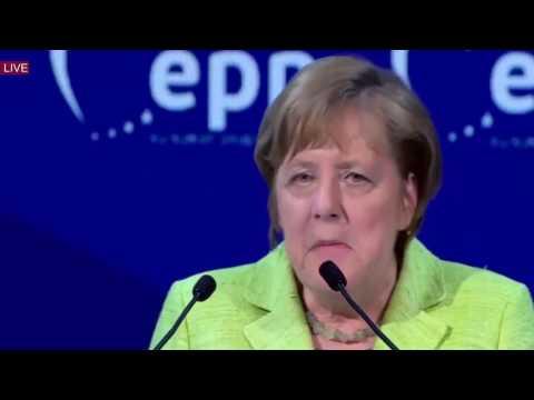 German Chancellor Merkel speaks at European People