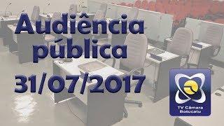 Audiência Pública PPA e LDO - 31/07/2017