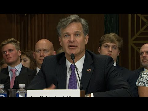 FBI director nominee Christopher Wray testifies on Capitol Hill