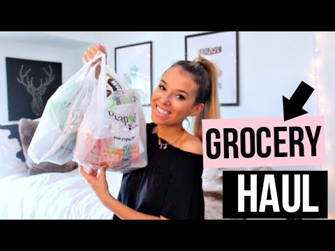 healthy college grocery haul | gluten & dairy free!