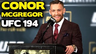 UFC 194: The Conor McGregor post-fight press conference