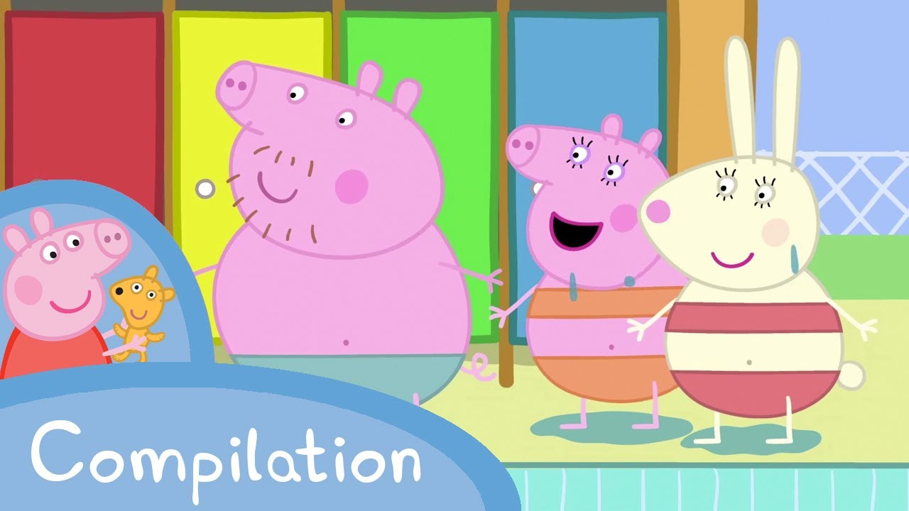 Peppa pig compilation 15 minutes youtube for Peppa pig swimming pool english full episode