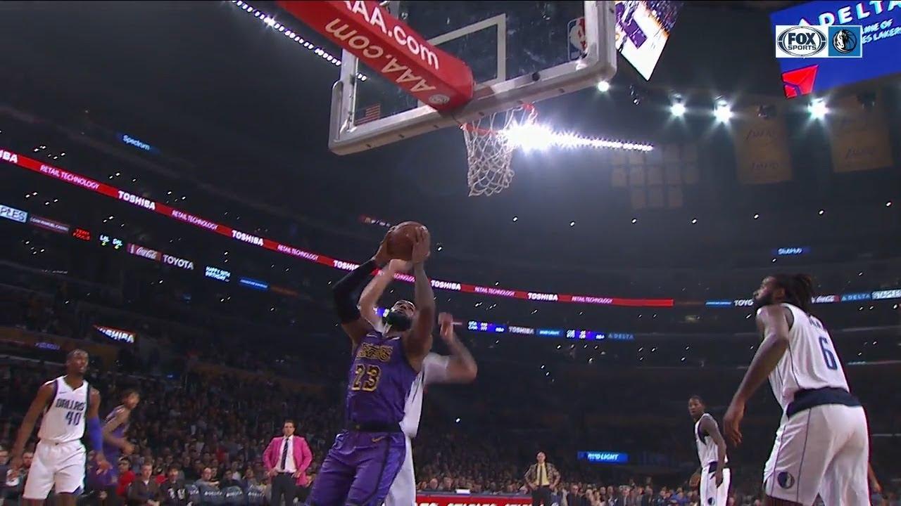 Luka Doncic Blocks Lebron James Twice At The Rim Mavericks Vs Lakers November 30 2018