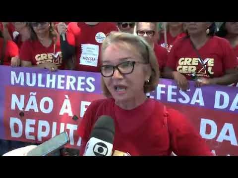 AL TV 1 Edição -  Entidades protestam contra medidas tomadas pelo governo federal
