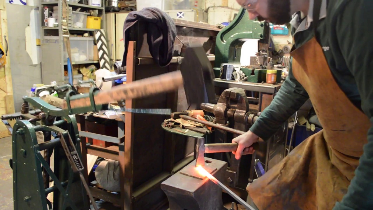 Forging with the treadle hammer!