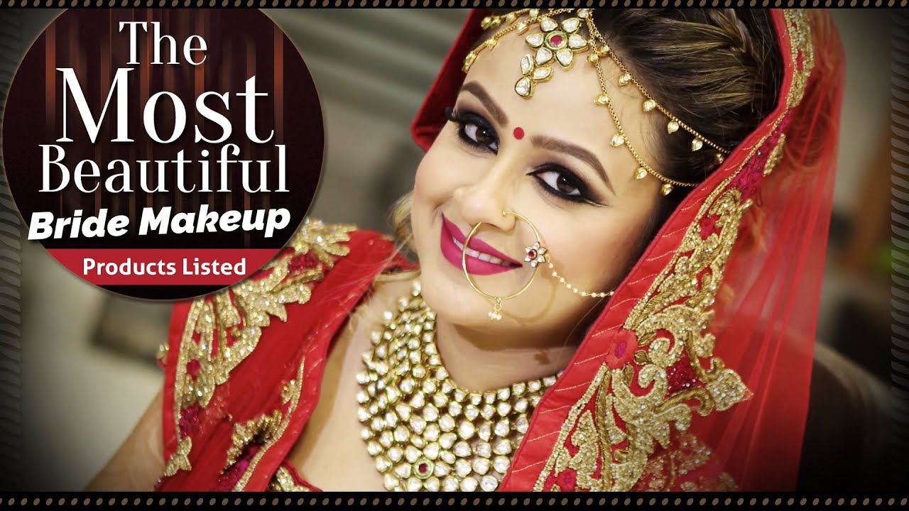 Most Beautiful Bridal Makeup Tutorial Video | Step by Step Indian Bridal  Makeup | Krushhh by Konica