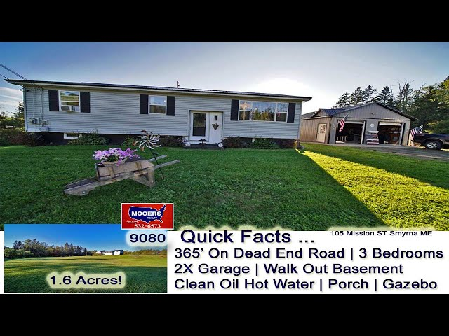 Ranch #Homes For Sale In #Maine Video | Maine Real Estate MOOERS REALTY 9080