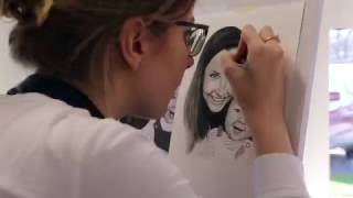 Mother & Daughter Time Lapse Painted Portrait