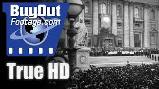 YOUNG GIRL CANONIZED 1950 - HD Stock Footage