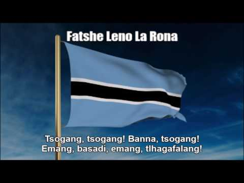 National Anthem of Botswana (Fatshe Leno La Rona) - Nightcore Style With Lyrics