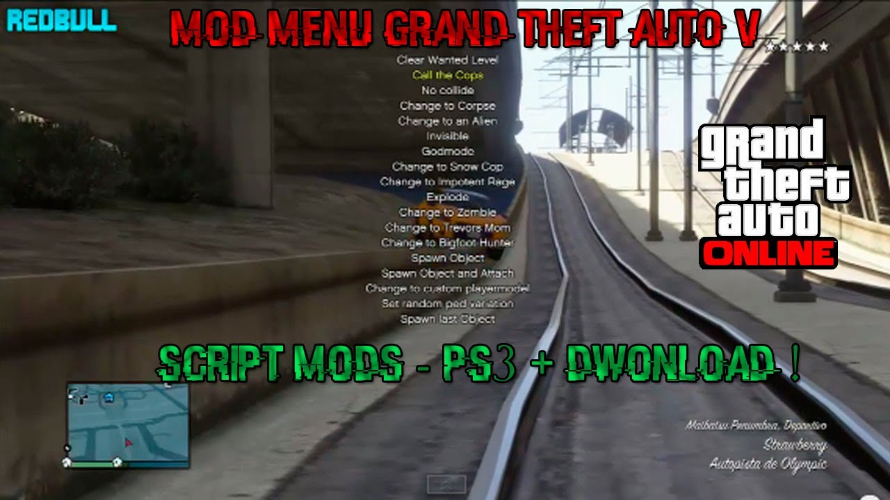 Mega gta 5 mod menu download ps3 | GTA 5 ONLINE  2019-08-18