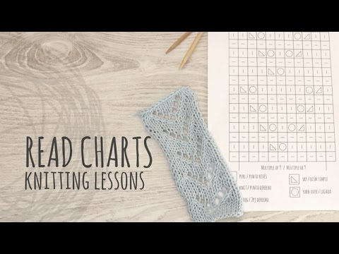 Knitting Lessons How To Read A Knitting Chart Youtube