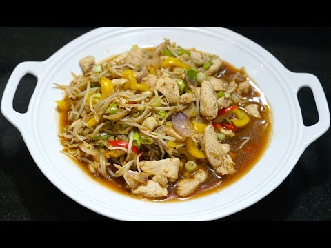 Chicken Beansprouts - How to Make Chinese Chicken Bean Sprouts - Youtube