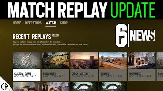 Match Replay System Gameplay - Watch Games Back - 6News - Rainbow Six Siege