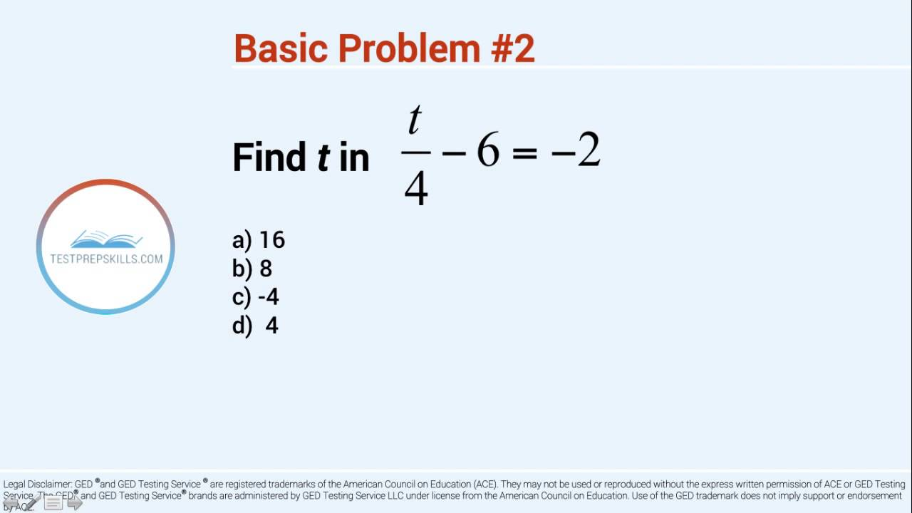practice algebra problems Varsity tutors' free pre-algebra practice tests can help students review basic algebra concepts while taking pre-algebra courses, or they can refresh these concepts after completing pre-algebra each twelve-question, multiple-choice test offers statistics of students' scores, including full explanations for each problem.