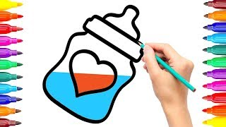 Awesome Way Draw Baby Accessories Coloring Pages How to Draw Baby accessories Coloring Book for Kids