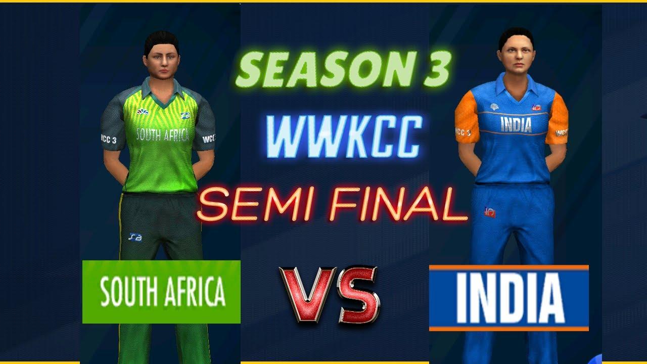 Semi Final - India vs South Africa - Season 3 | WWKCC - World Cricket Championship 3 WCC 3 Live