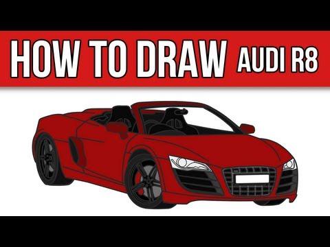 HOW TO DRAW - Audi R8 Spyder - Step by Step