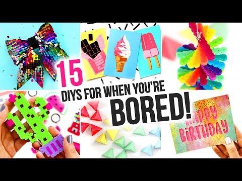 15 Easy DIYs To Do When You're BORED - DIY Compilation Video   @karenkavett