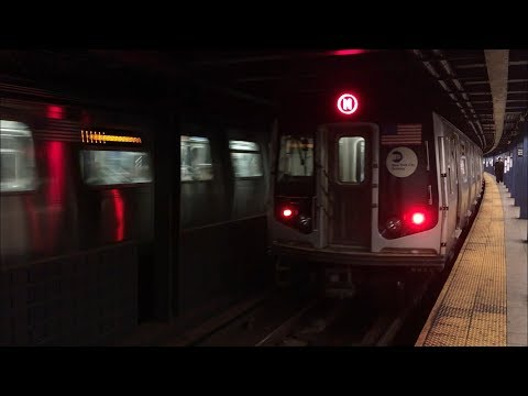 IND Queens Blvd Line: (E) (F) Exp and (M) (R) Lcl Trains @ Woodhaven Blvd (R46, R160)
