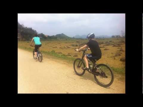 Family cycling vietnam