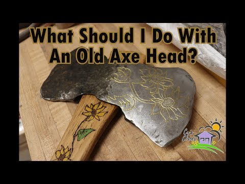 What should I do with an old axe head?