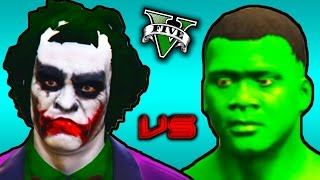 GTA 5 PC - JOKER vs THE HULK (GTA 5 Mod Funny Moments)