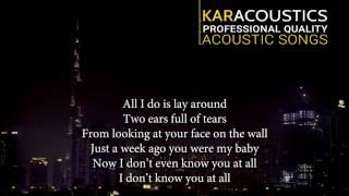 Officially Missing You by Tamia Acoustic Guitar Backing Track | Acoustic Karaoke