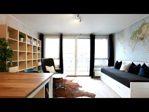 Quiet 1-Room Studio Furnished Apartment with Balcony in Berlin, Erich- Weinert - Str.