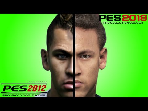 Neymar Face Evolution From PES 2012 To PES 2018