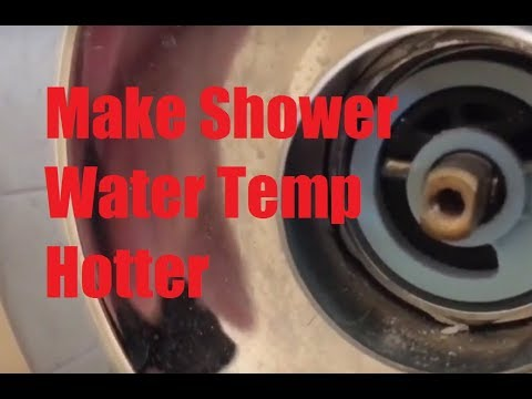 how to make delta shower water temp hotter in 1 minute rotational limit stop