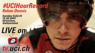 TEASER - Rohan Dennis next to attack the #UCIHourRecord LIVE on YouTube