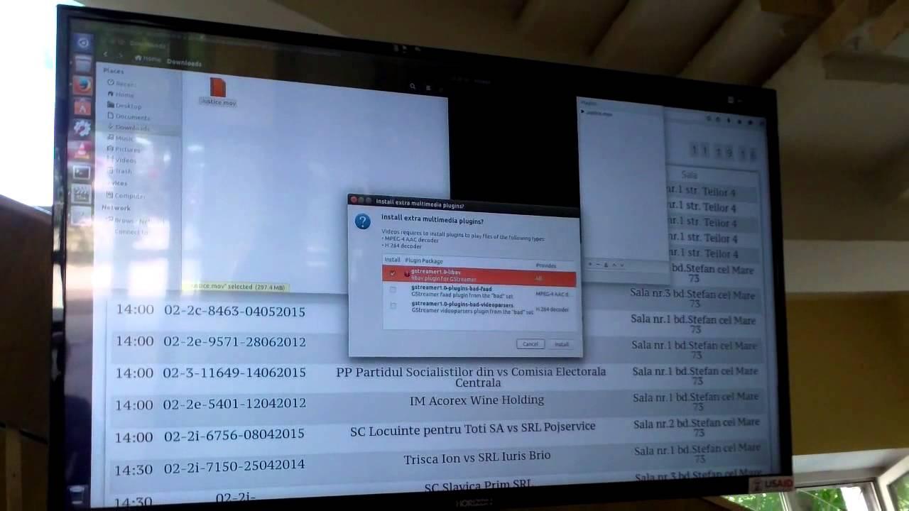 Afișajul electronic din instanță s-a blocat în ziua alegerilor