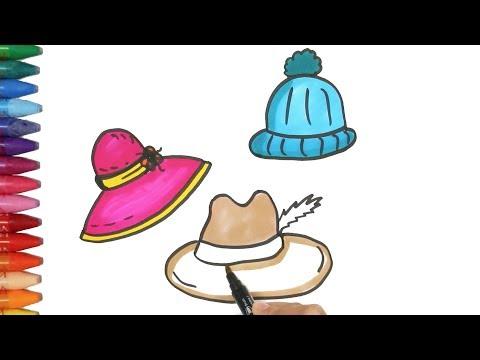 Şapka Çizim Nasıl Yapılır | Nasıl Çizilir | Çocuk ve Bebek için Çiziyorum Boyuyorum