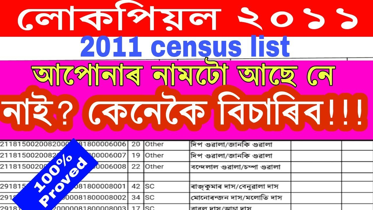 2011 Census List / check SECC list 2011 / Download 2011 census list / secc