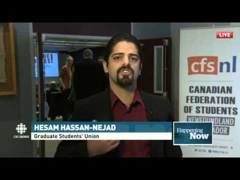 Hesam Hassan Nejad - Graduate Students' Union on the proposed tuition fee raise
