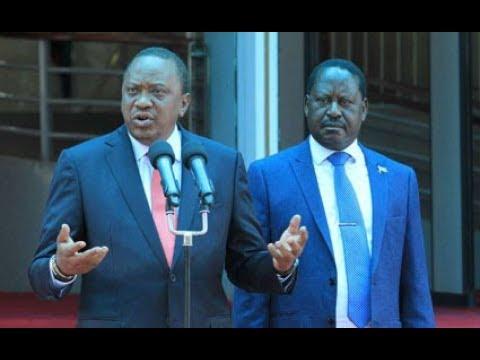 President  Uhuru Kenyatta and Raila Odinga bury the hatchet