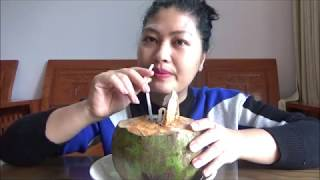 Coconut Vietnam Eating - Eat the world? 👍 Dusama Box Part 3#