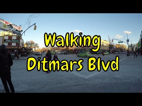 ⁴ᴷ Walking Tour of Astoria, Queens, NYC - Ditmars Boulevard from Shore Boulevard to Steinway Street