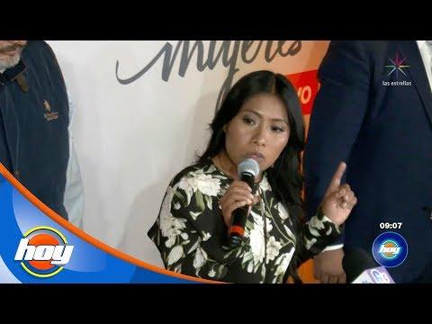 ¡Yalitza Aparicio causa revuelo en su visita a la ciudad de México!   Hoy