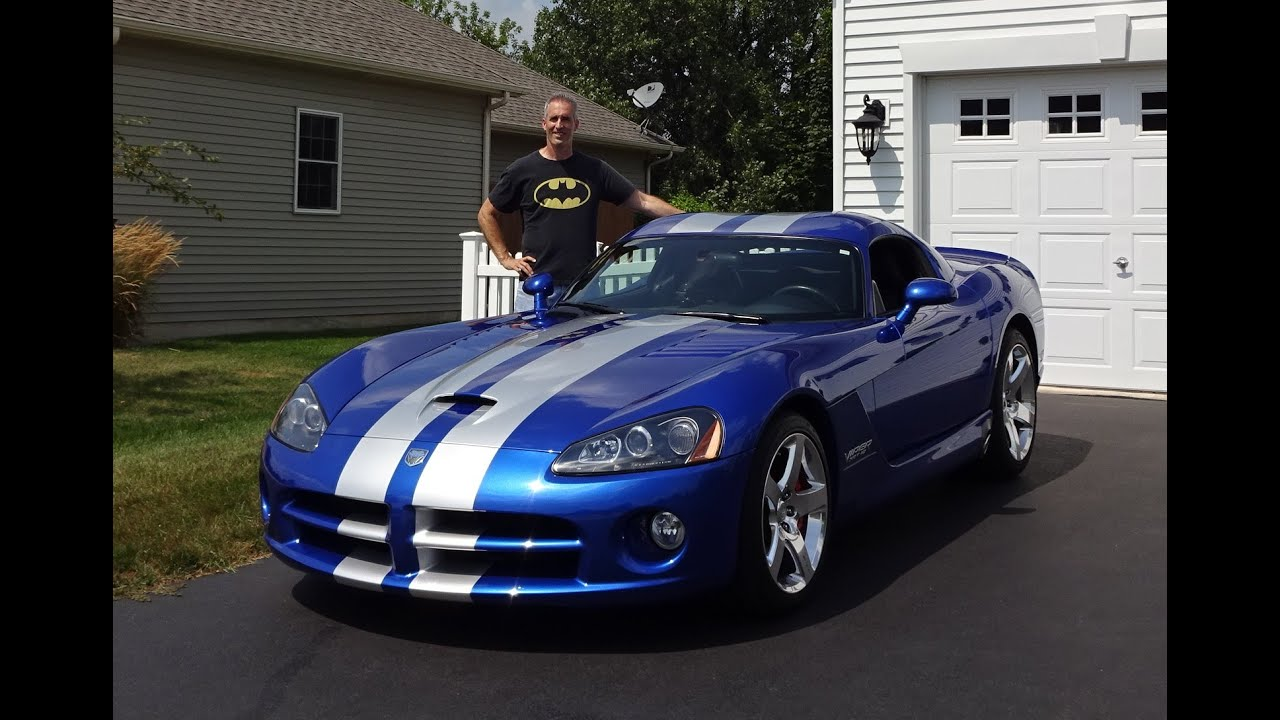 2006 Dodge Viper SRT 10 Coupe In Blue With Engine Start Up