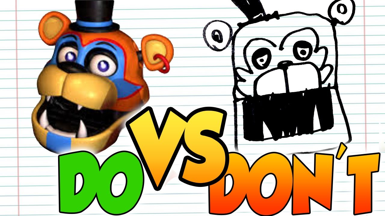 DOs & DON'Ts Drawing FNAF- Security Breach Glamrock Animatronics In 1 Minute CHALLENGE!