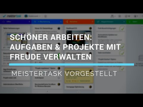 Aufgaben- & Projektmanagement Tool - MeisterTask vorgestellt