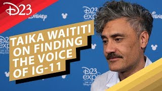 The Mandalorian: Taika Waititi on Finding the Voice of IG-11 - D23 2019
