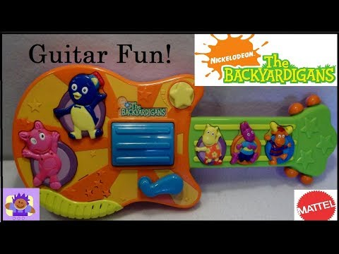 2006 Nick Jr. The Backyardigans Musical Toy Guitar By Mattel