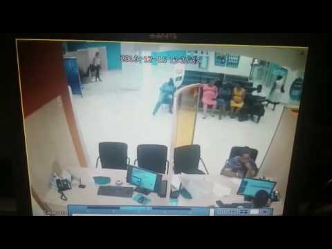South African bank robbery with AK47.