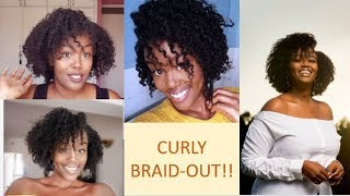 CURLY HAIR (Braid Out) Tutorial!!