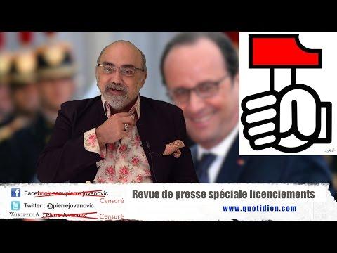 "P. Jovanovic : Revue de presse ""spéciale licenciements"" (Juillet 2016)"